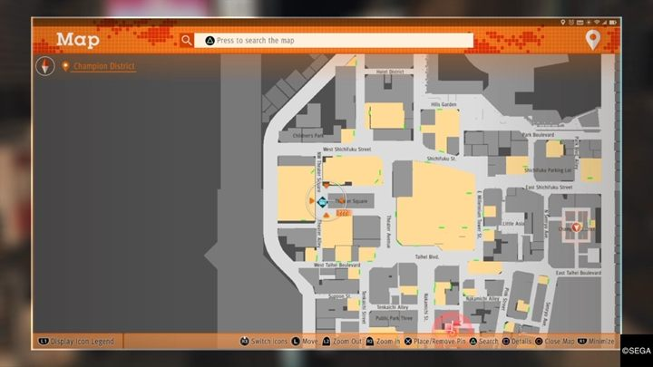 Description: Youll run into a man dressed as a mascot twice - Kamurocho Streets | Judgment side cases walkthrough - Side cases - Judgment Guide