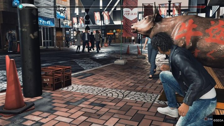 Description: During the finale, when you return to Yagamis apartment (after a visit to the Tender bar), it turns out that a man wants to jump off the roof - Kamurocho Streets | Judgment side cases walkthrough - Side cases - Judgment Guide