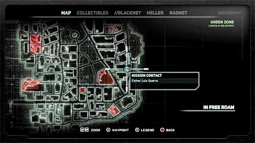 In order to start this mission, you have to get to location [962, 1402], specifically to the shiny circle on the ground - [Main mission 16] The White Light - Main missions - Prototype 2 - Game Guide and Walkthrough