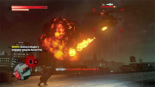 It is beast to use newly obtained missile launcher to destroy helicopter, and this is also a bonus mission objective - [Main mission 16] The White Light - Main missions - Prototype 2 - Game Guide and Walkthrough