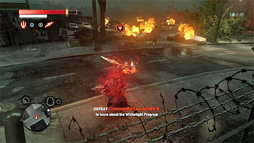 The fight with Gallagher is very similar to the one with Dr - [Main mission 16] The White Light - Main missions - Prototype 2 - Game Guide and Walkthrough