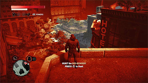 New hunt awaits you, so it is worth to get to the rooftop of one of the highest buildings in the area, because when you send an impulse being up there, you'll be able to easily locate the person you're looking for (screen above) - [Main mission 19] A Maze of Blood - Main missions - Prototype 2 - Game Guide and Walkthrough