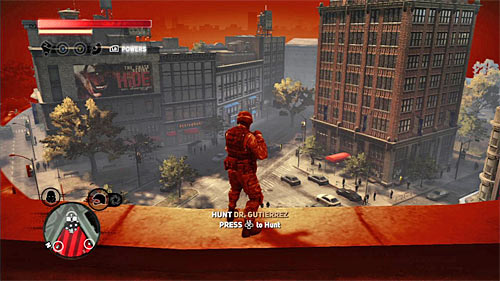 Same as with the previous hunt, you might get to the rooftop of one of the highest building in the area, because when you send an impulse being there, you'll locate Dr - [Main mission 19] A Maze of Blood - Main missions - Prototype 2 - Game Guide and Walkthrough