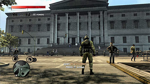 The scientist you're looking for is standing next to the entrance to the large building in the south-eastern part of the green zone and his location is [960, 1495] - [Main mission 19] A Maze of Blood - Main missions - Prototype 2 - Game Guide and Walkthrough