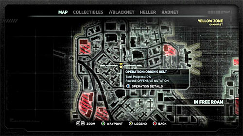 In order to start this mission, you have to get to location [237, 1172], specifically to Blacknet terminal - [Blacknet mission 1] Operation: Orion's Belt - Blacknet missions - Prototype 2 - Game Guide and Walkthrough