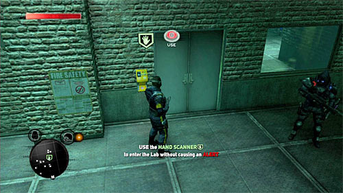 Return to previous room and head to the hand scanner, located on the floor in location [91, 1371] - [Blacknet mission 1] Operation: Orion's Belt - Blacknet missions - Prototype 2 - Game Guide and Walkthrough