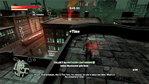 Now you have to prepare for some kind of race, because your task is to pick up containers in certain time limit (there is a counter visible on the screen) - [Blacknet mission 5] Operation: Keyhole - Blacknet missions - Prototype 2 - Game Guide and Walkthrough