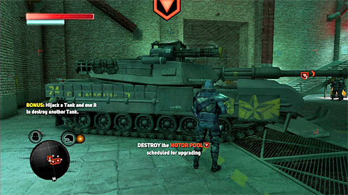 The important information is fact, that in order to complete the bonus objective, you have to use a tank to destroy at least one enemy machine - [Blacknet mission 5] Operation: Keyhole - Blacknet missions - Prototype 2 - Game Guide and Walkthrough