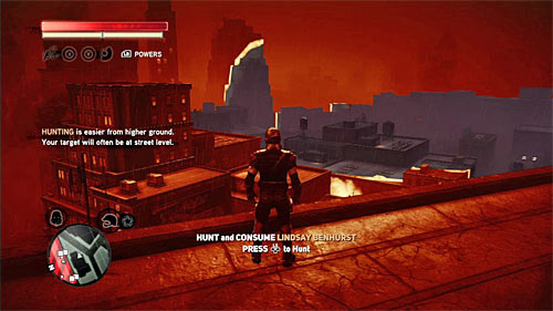 As you probably remember, it is best to start the hunt with getting to the rooftop of one of the highest building in area - [Blacknet mission 10] Operation: Long Horizon - Blacknet missions - Prototype 2 - Game Guide and Walkthrough