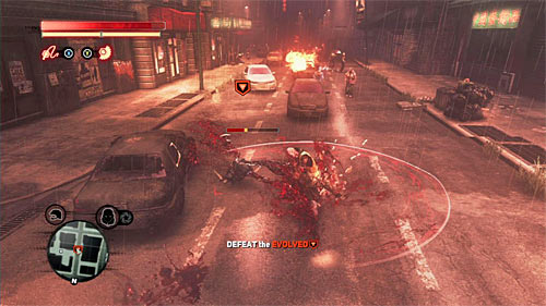Start the fight with the evolved, during which you should rely on attacks performed in a short distance and (if possible) on the Devastator attack, which might empty the evolved energy bar if you have luck - [Blacknet mission 10] Operation: Long Horizon - Blacknet missions - Prototype 2 - Game Guide and Walkthrough
