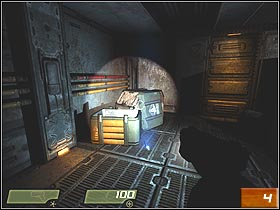 Few seconds later you'll find yourself in the room and encounter first enemy (#3) - Air Defense Bunker - Walkthrough - Quake 4 - Game Guide and Walkthrough