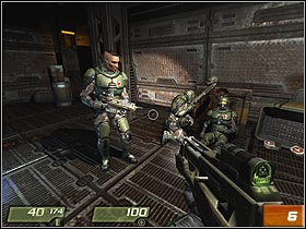 In the next room, you can pick up a machinegun (#5) - Air Defense Bunker - Walkthrough - Quake 4 - Game Guide and Walkthrough