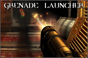 Grenade Launcher fires shells, which detonate immediately after hitting the enemy, or bounce off the walls if there's no opponent (in this case, shell will explode after few seconds) - Weapons - Quake 4 - Game Guide and Walkthrough