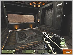 There's an elevator on the other side of command center (#30) - Interior Hangar - Walkthrough - Quake 4 - Game Guide and Walkthrough