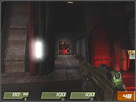 After the ride, jump down from the truck - Canyon - Walkthrough - Quake 4 - Game Guide and Walkthrough