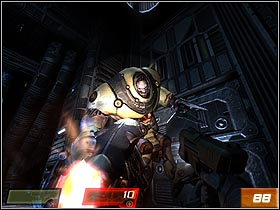 You dont stand a chance with the new Makrons incarnation (#88), but you can try your best - Nexus Hub - Walkthrough - Quake 4 - Game Guide and Walkthrough
