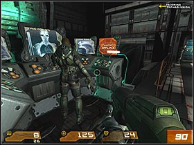 Run behind your team - Strogg Medicial Facilities - Walkthrough - Quake 4 - Game Guide and Walkthrough
