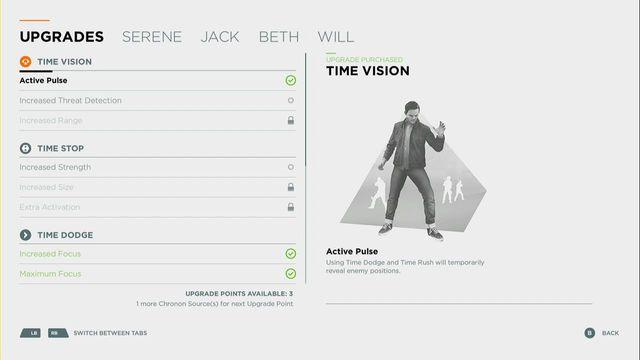 Comparison of skills and upgrades | Skills - Quantum Break Game