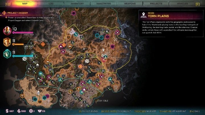 You will find this bandits hideout in the southeast - Bandit Dens in Torn Plains - Rage 2 - Bandit Dens - Rage 2 Guide