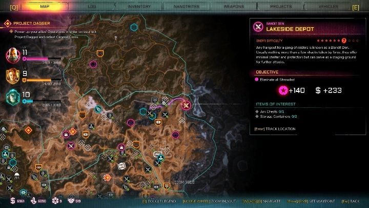This bandits den can be found in the eastern part of the location, at the end of the map - Bandit Dens in Torn Plains - Rage 2 - Bandit Dens - Rage 2 Guide