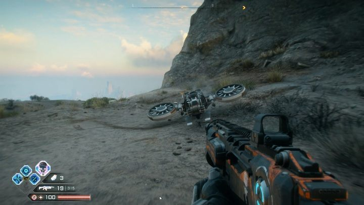 The vehicle will fall from the sky and land right in front of you - How to call a vehicle in Rage 2? - Vehicles - Rage 2 Guide