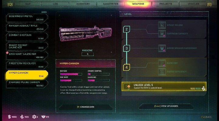 New levels give you the opportunity to purchase new upgrades - How to upgrade weapons in Rage? - Weapons - Rage 2 Guide