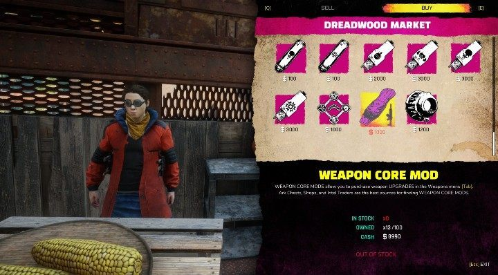 Weapon core mods can be acquired in two ways - one of the methods is to buy them from a merchant - How to upgrade weapons in Rage? - Weapons - Rage 2 Guide