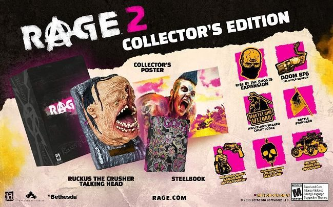 RAGE 2 collectors edition includes - Rage 2 Guide