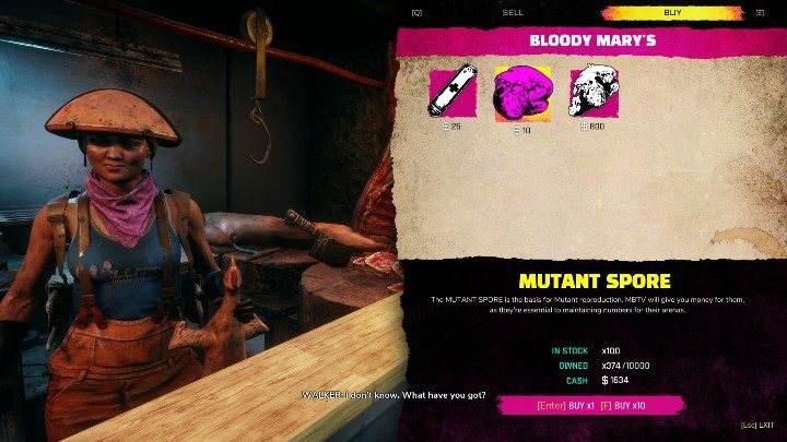 This product can also be purchased - What is the main application of Mutant Spores in Rage 2? - FAQ - Rage 2 Guide