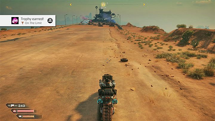 Start with one of the ends of the specified road - On The Limit | Rage 2 Trophy guide - Trophy Guide - Rage 2 Guide