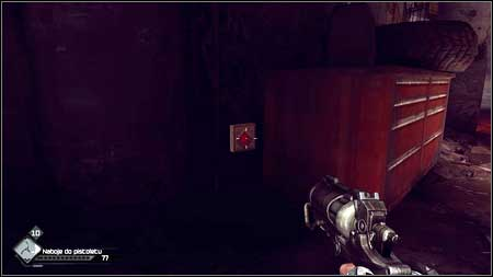 The last button can be found behind the cabinet - Quake - Special id rooms - Rage - Game Guide and Walkthrough