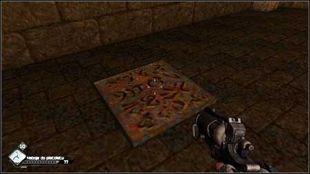 In order to leave the room walk on the square rune tile on the floor - Quake - Special id rooms - Rage - Game Guide and Walkthrough