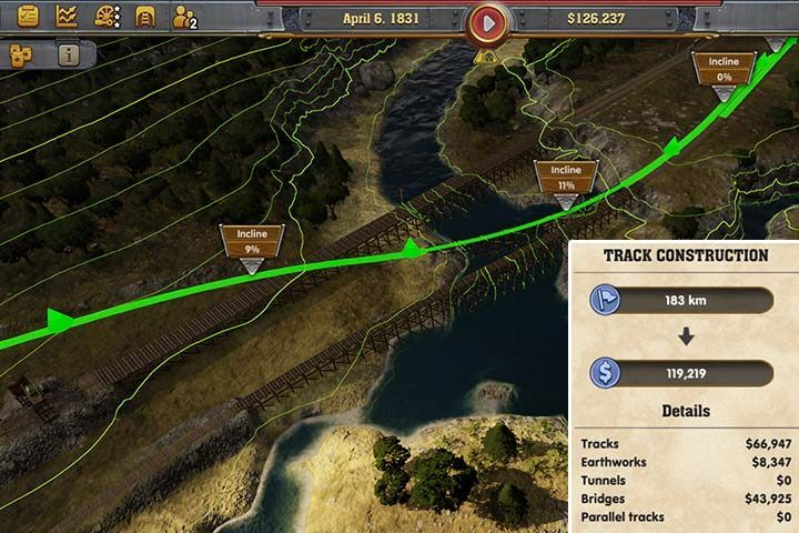Building tracks and creating lines in Railway Empire
