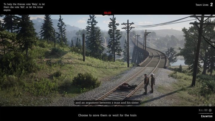 When you catch the thieves, go to the railroads and place them on the tracks - The Right Side of the Tracks | Story missions in Red Dead Online - Story missions - Red Dead Online Guide