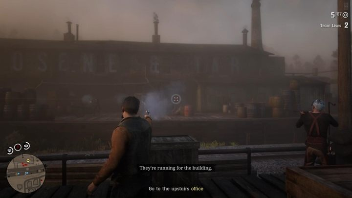 Defeat the enemies and then board the train - Kerosene, Tart and Greed | Story missions in Red Dead Online - Story missions - Red Dead Online Guide