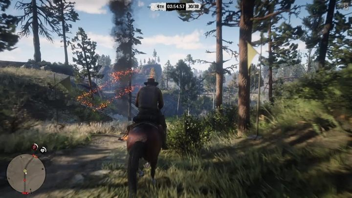 In standard race, you have to reach the finish line before other players - Red Dead Online Guide