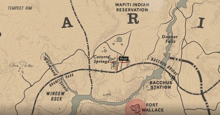The wolf moves within the area marked on the screen below - Legendary Wolf in Red Dead Redemption 2 - Legendary Animals - Red Dead Redemption 2 Guide