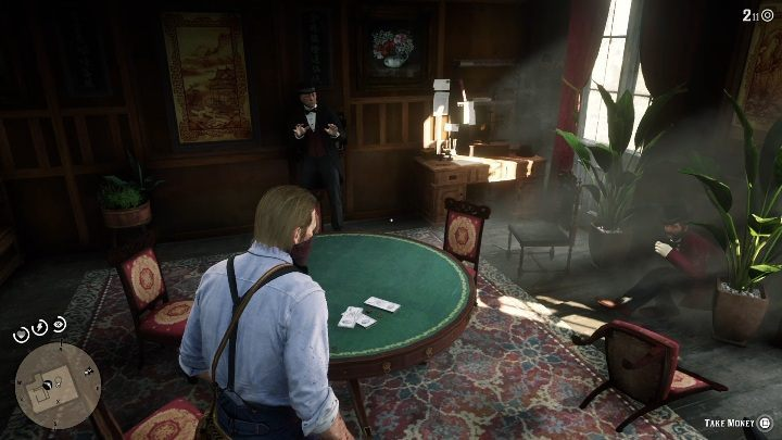 The man tells you to reach the 3rd floor - Store robbery in Red Dead Redemption 2 - Side quests - Red Dead Redemption 2 Guide