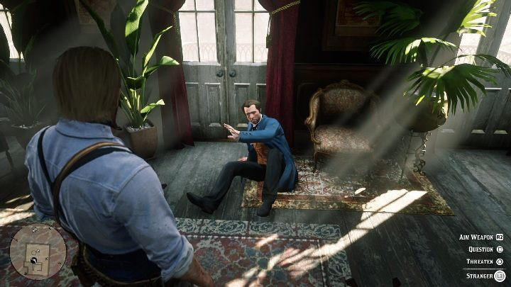 If you want more money, you can threaten the man in a blue coat - Store robbery in Red Dead Redemption 2 - Side quests - Red Dead Redemption 2 Guide
