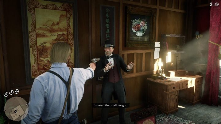 To reach that safe you have to threaten the man presented in the picture above - Store robbery in Red Dead Redemption 2 - Side quests - Red Dead Redemption 2 Guide