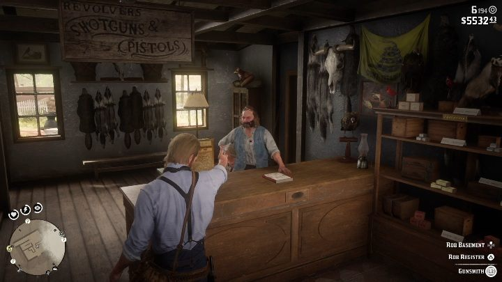 Go inside the store and threaten the man with your weapon - Store robbery in Red Dead Redemption 2 - Side quests - Red Dead Redemption 2 Guide