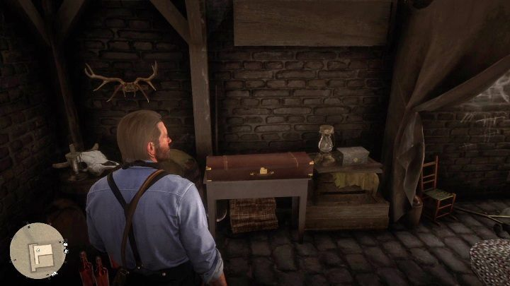 The basement has a locker with a weapon and a box with money - Store robbery in Red Dead Redemption 2 - Side quests - Red Dead Redemption 2 Guide