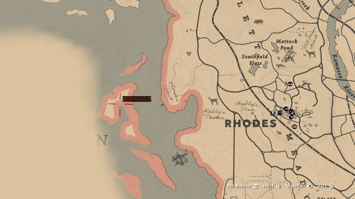 Tricorn Hat is a unique hat found on the island west of Rhodes - Unique items Red Dead Redemption 2 - Secrets and collectibles - Red Dead Redemption 2 Guide
