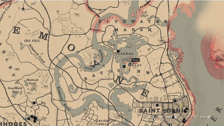 This item is near Lakay, north of Saint Denis - Unique items Red Dead Redemption 2 - Secrets and collectibles - Red Dead Redemption 2 Guide