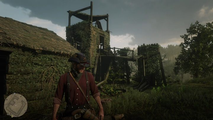 The hat is in an old fort, inside one of the cabins basements - Unique items Red Dead Redemption 2 - Secrets and collectibles - Red Dead Redemption 2 Guide
