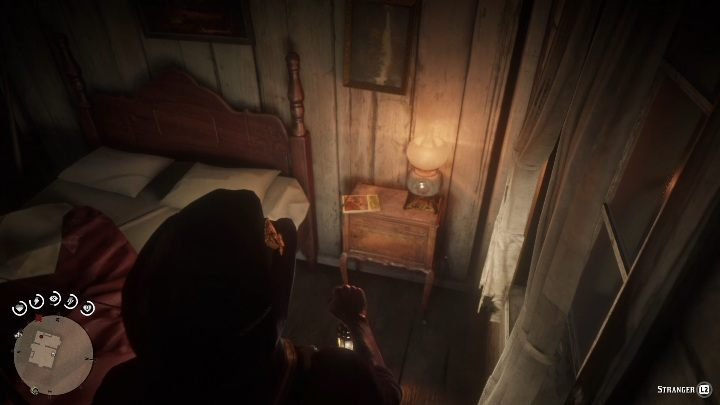 The item is inside the cabin, on the nightstand - Unique items Red Dead Redemption 2 - Secrets and collectibles - Red Dead Redemption 2 Guide