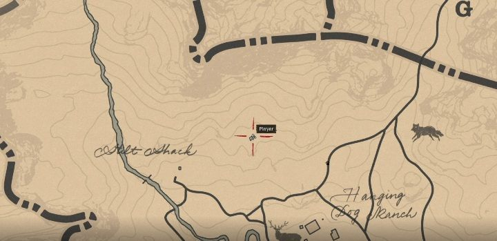 The knife is above Little Creek River - Unique items Red Dead Redemption 2 - Secrets and collectibles - Red Dead Redemption 2 Guide