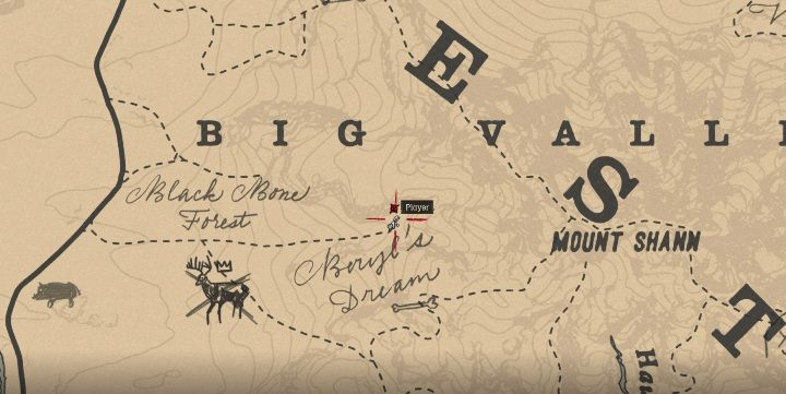 The Wide-Blade Knife is in the southern part of Big Valley - Unique items Red Dead Redemption 2 - Secrets and collectibles - Red Dead Redemption 2 Guide