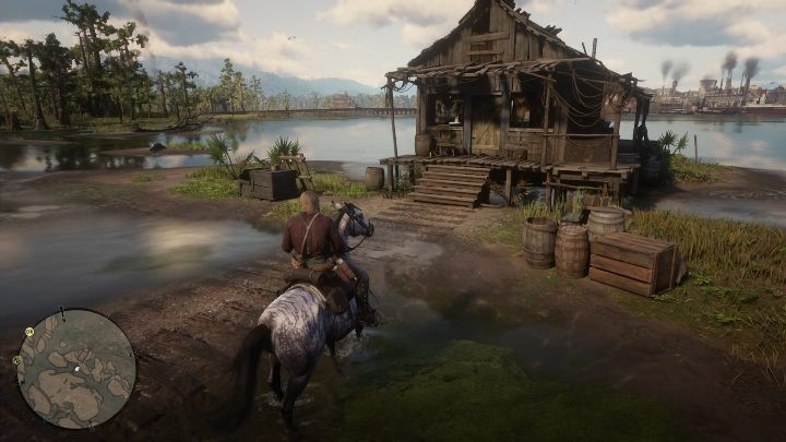 One of the cabins is on the swamps - move south by going from Caliga Hall - Hidden cabins in Red Dead Redemption 2 - Secrets and collectibles - Red Dead Redemption 2 Guide
