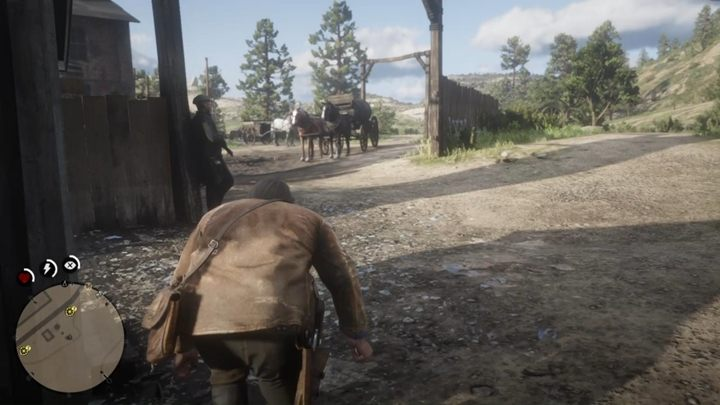 The wagons are heavily guarded - Pouring Forth Oil - Red Dead Redemption 2 Walkthrough - Chapter 2 - Horseshoe Overlook - Red Dead Redemption 2 Guide